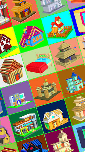 House Voxel Paint by Number screenshot 2