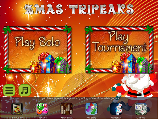 Xmas TriPeaks, card solitaire, tournament edition screenshot 12