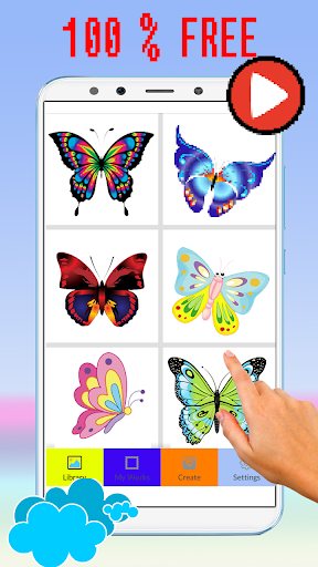 Cute Butterfly Pixel Art Coloring By Number screenshot 6