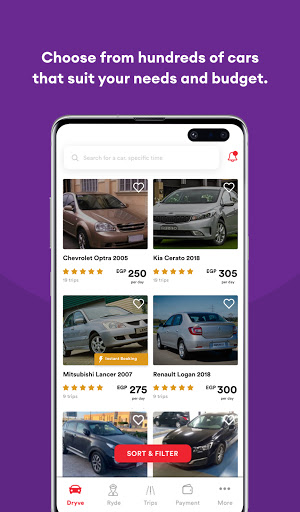 dryve - Car Rental App screenshot 1