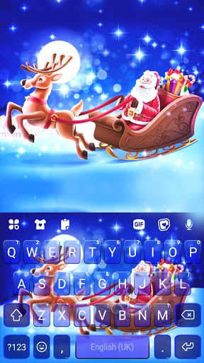 Santa Christmas Keyboard Background screenshot 5
