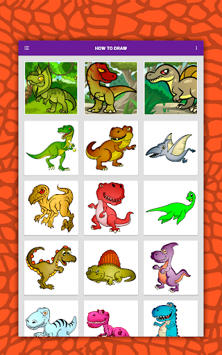 How to draw cute dinosaurs step by step, lessons screenshot 10