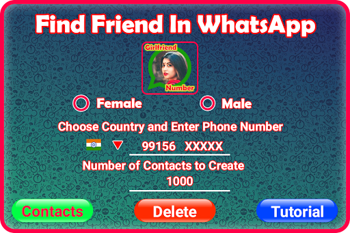 Friend Search for Chat 屏幕截图 1