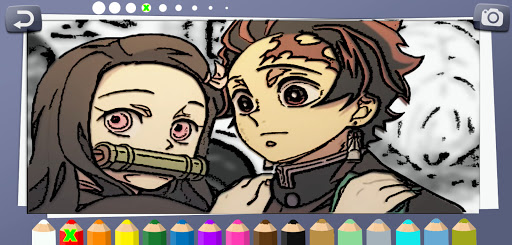 Coloring book for Demon Slayer screenshot 1