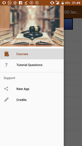 Revised Law Courses(300 Level) screenshot 1