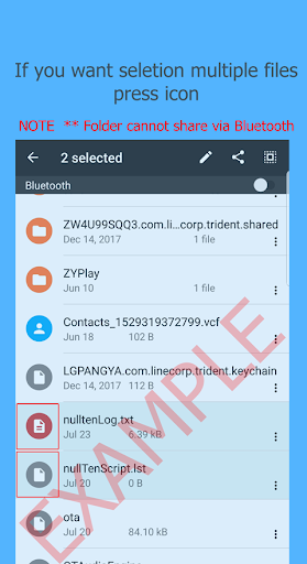 Bluetooth Files Transfer screenshot 1