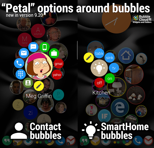 Bubble Cloud Widgets + Folders for phones/tablets screenshot 4