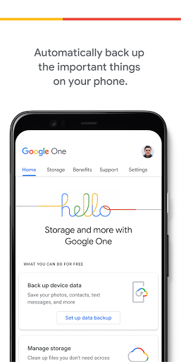 Google One screenshot 1