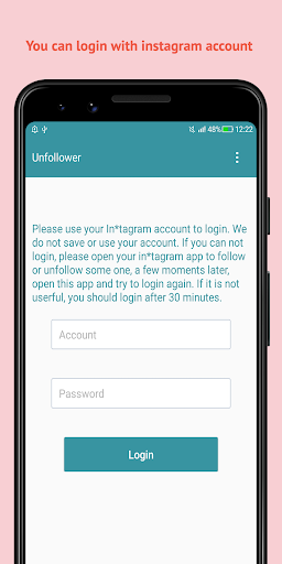 Unfollow Users Cleaner for insta screenshot 1
