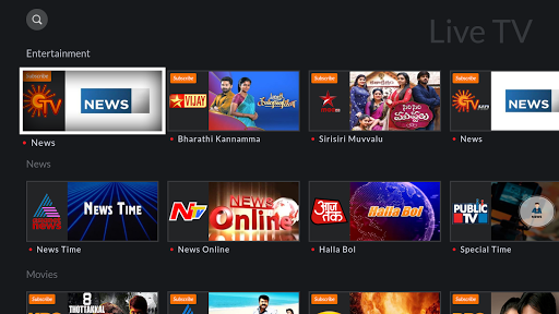 YuppTV for AndroidTV screenshot 2