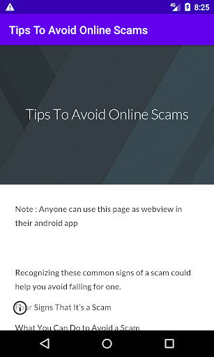 Tips To Avoid Online Scams screenshot 1