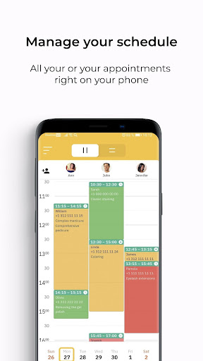 YCLIENTS Appointment Scheduler Calendar Widget 🗓 screenshot 1