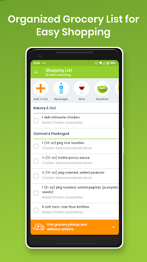 eMeals - Meal Planning Recipes & Grocery List screenshot 3