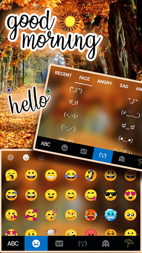 Autumn Trees Keyboard Background screenshot 3