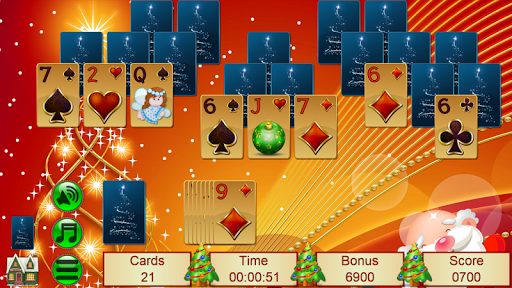 Xmas TriPeaks, card solitaire, tournament edition screenshot 7