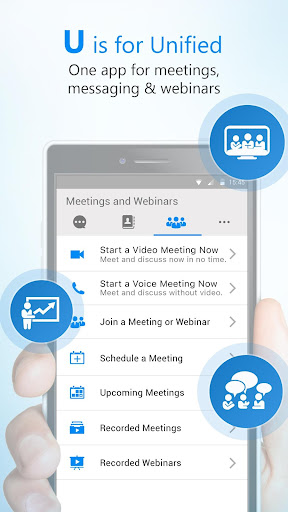 U Meeting, Webinar, Messenger screenshot 1