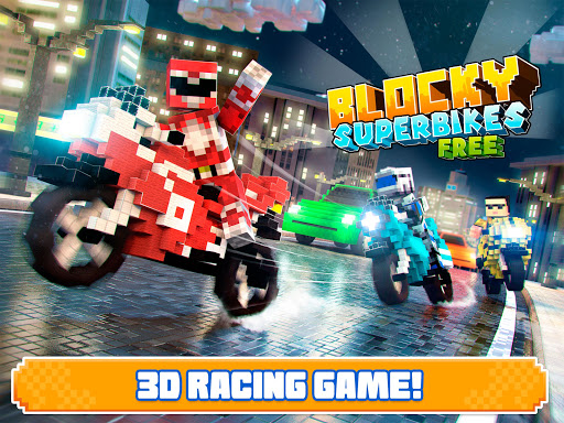Blocky Superbikes Race Game - Motorcycle Challenge 屏幕截图 7