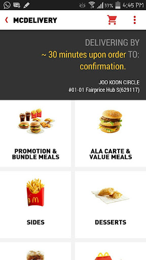 McDelivery Singapore screenshot 2