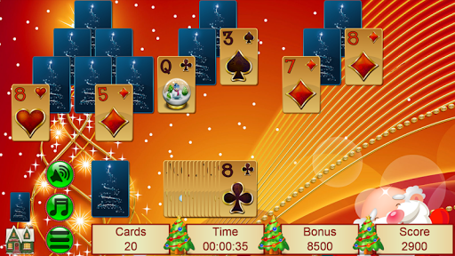 Xmas TriPeaks, card solitaire, tournament edition screenshot 8