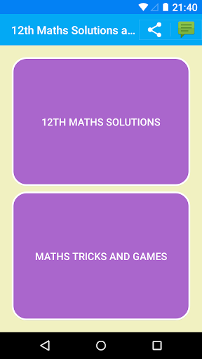 Maths 12th Solutions for NCERT screenshot 1