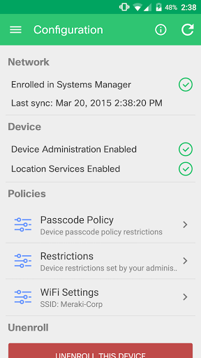 Meraki Systems Manager screenshot 6