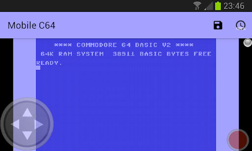 Mobile C64 screenshot 2