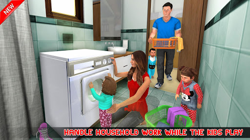 New Mother Baby Triplets Family Simulator screenshot 8