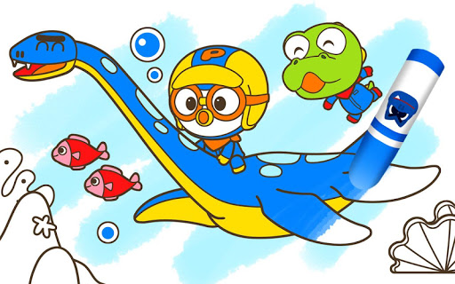 Pororo Dinosaur Sketchbook - Kids Painting screenshot 10