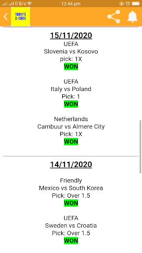 TODAY'S 2+ ODDS screenshot 2