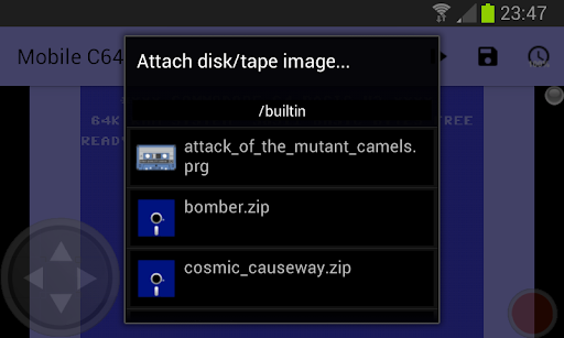 Mobile C64 screenshot 3