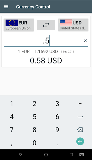 Currency Control-THE Converter screenshot 1