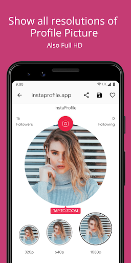 Profile Picture Downloader & Zoom for Instagram screenshot 2