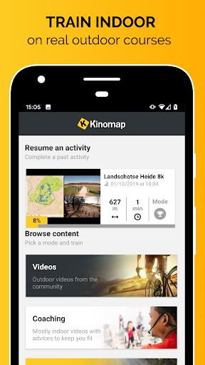 Kinomap screenshot 1