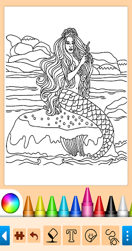 Coloring game for girls and women screenshot 3