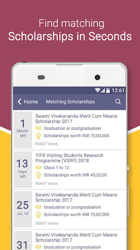 Scholarships for Indian students screenshot 2