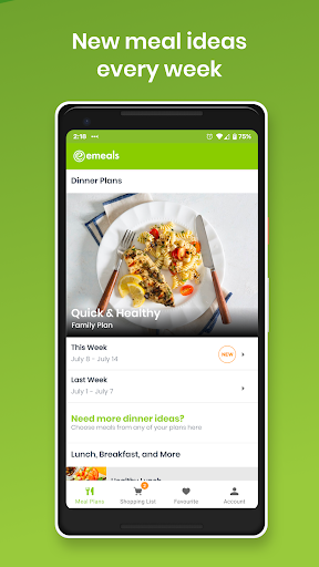 eMeals - Meal Planning Recipes & Grocery List screenshot 1