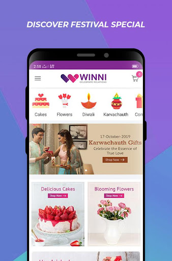 Winni - Cake, Flowers & Gifts Delivery India screenshot 2