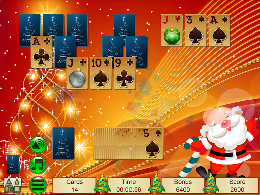 Xmas TriPeaks, card solitaire, tournament edition screenshot 16