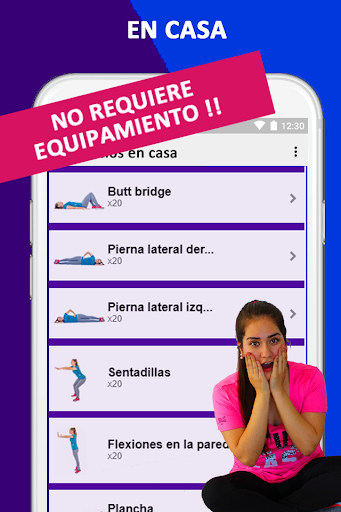 Exercises at home to lose weight and tone woman screenshot 4