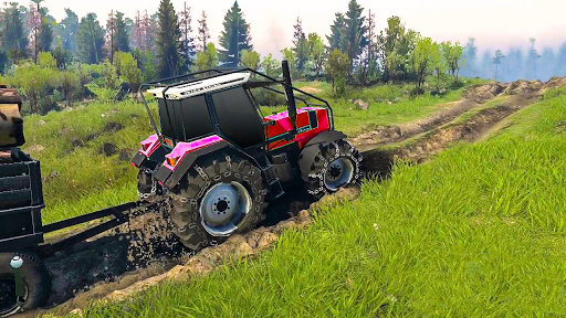 Tractor Pull & Farming Duty Game 2019 screenshot 1