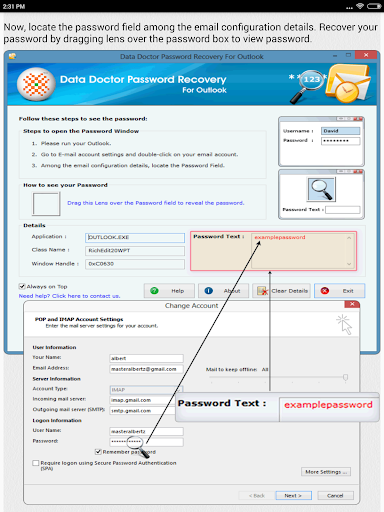 Email Password Recovery Help screenshot 9