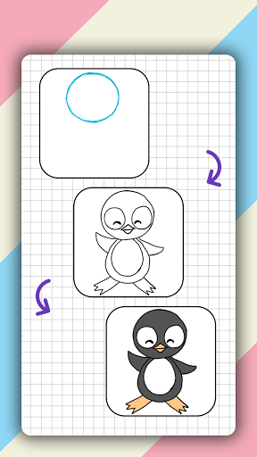 How to draw cute animals step by step, lessons screenshot 5