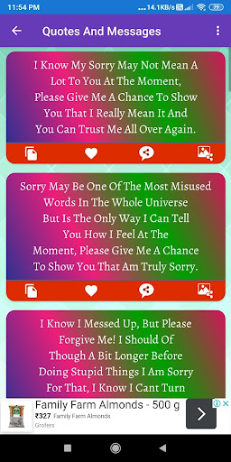 I Am Sorry: Greetings, Photo Frames, GIF Quotes screenshot 5