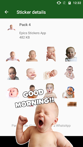 WAstickerApps Babies Funny Faces with Phrases screenshot 1