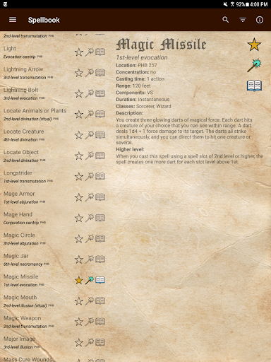 D&D Spellbook 5e screenshot 10