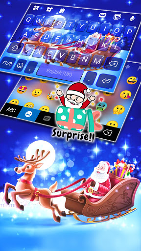 Santa Christmas Keyboard Background screenshot 3