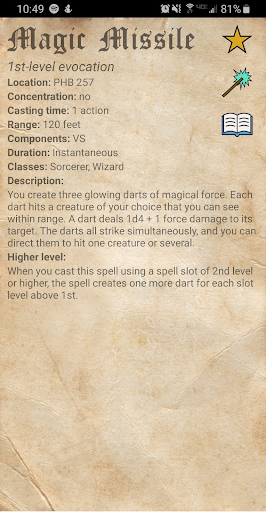 D&D Spellbook 5e screenshot 4