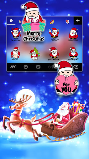 Santa Christmas Keyboard Background screenshot 4
