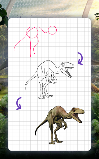 How to draw dinosaurs. Step by step lessons screenshot 11