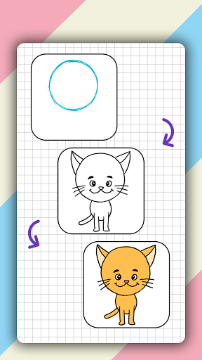 How to draw cute animals step by step, lessons screenshot 4